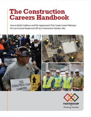 Report cover of the Construction Careers Handbook